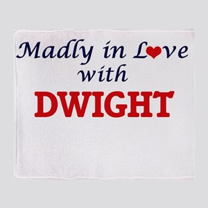 Madly in love with Dwight Throw Blanket