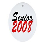 Senior 2008 ver2 Oval Ornament
