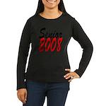 Senior 2008 ver2 Women's Long Sleeve Dark T-Shirt