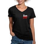 Senior 2008 ver2 Women's V-Neck Dark T-Shirt