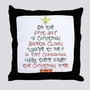 Chihuahua Christmas Gift Throw Pillow