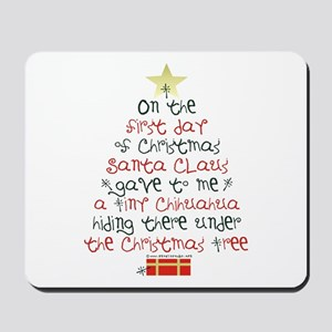 Chihuahua Christmas Gift Mousepad