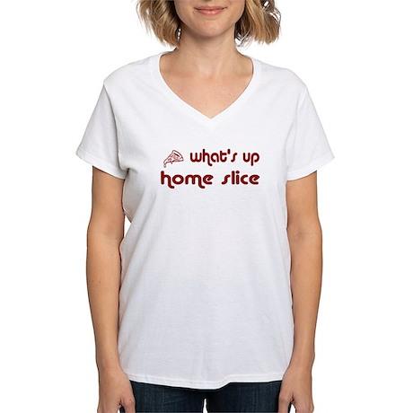 What's Up Home Slice Women's V-Neck T-Shirt