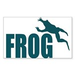 Frog shirts Rectangle Sticker