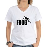 Frog shirts Women's V-Neck T-Shirt