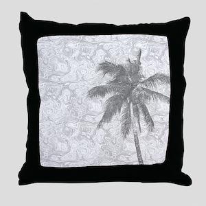 Design 67 palm tree Throw Pillow