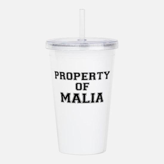 Property of MALIA Acrylic Double-wall Tumbler
