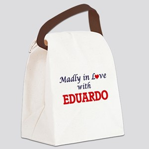 Madly in love with Eduardo Canvas Lunch Bag