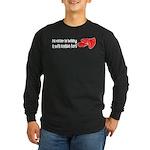 Sofa Cushion Fort Long Sleeve Dark T-Shirt