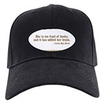 Too Fond of Books Black Cap