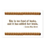 Too Fond of Books Postcards (Package of 8)