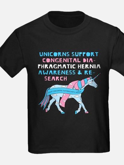Unicorns Support Congenital Diaphragmatic T-Shirt