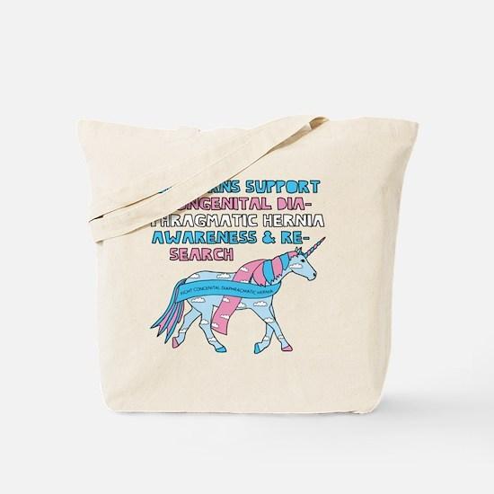 Unicorns Support Congenital Diaphragmatic Tote Bag