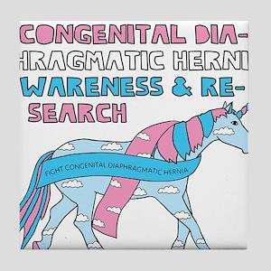 Unicorns Support Congenital Diaphragm Tile Coaster