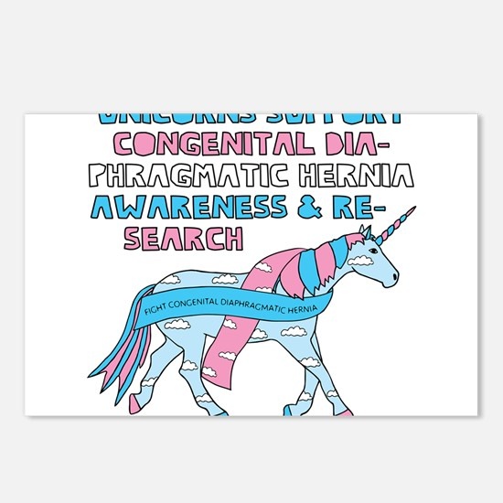 Unicorns Support Congenit Postcards (Package of 8)