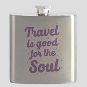 Travel is good for the soul Flask