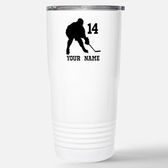 Custom Hockey Player Gift Travel Mug