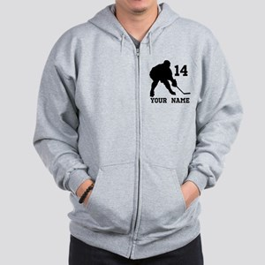 Custom Hockey Player Gift Zip Hoodie
