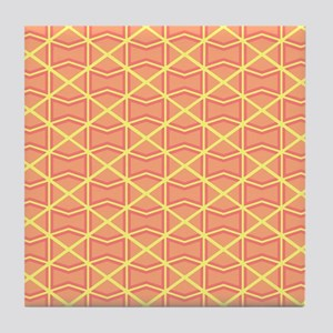 ORANGE DIAMONDS Tile Coaster