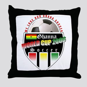 Ghana Soccer 2006 Throw Pillow