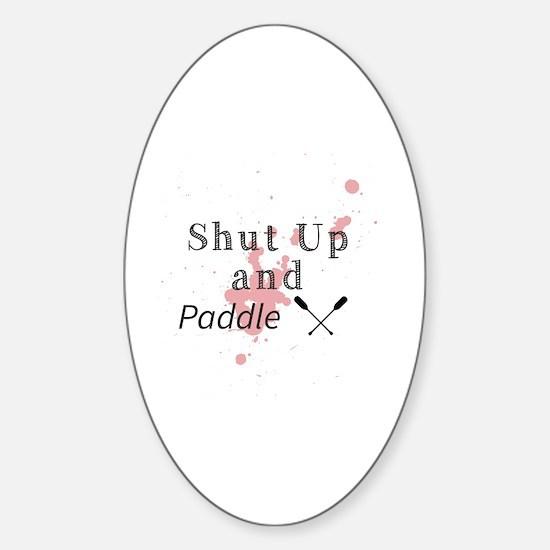 Cute Shut up Sticker (Oval)