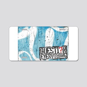 Question Everything Mural Aluminum License Plate