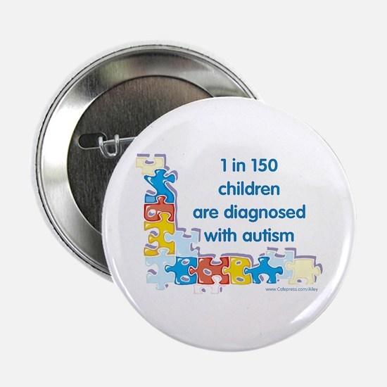 "Autism Puzzle (1 in 150) 2.25"" Button"