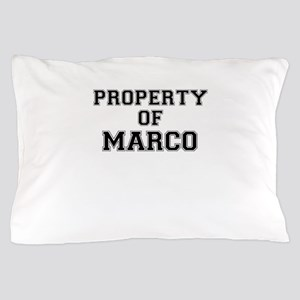 Property of MARCO Pillow Case