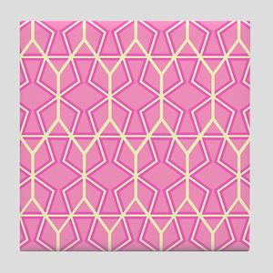 PINK HONEYCOMB Tile Coaster