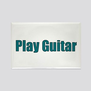Play Guitar Rectangle Magnet