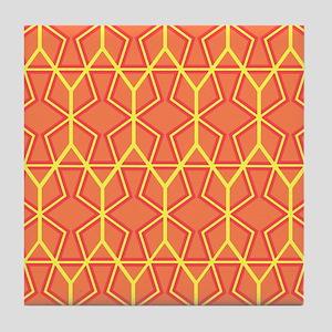 ORANGE HONEYCOMB Tile Coaster