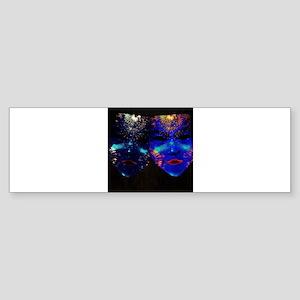 Blacklight Drama Masks Bumper Sticker