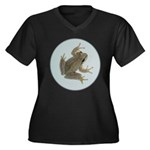 Pacific Treefrog Women's Plus Size V-Neck Dark T-S