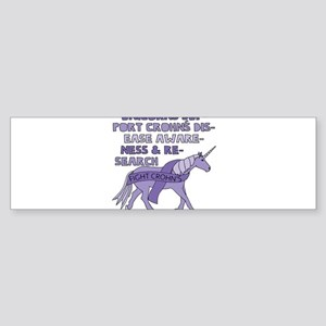Unicorns Support Crohn's Disease Aw Bumper Sticker