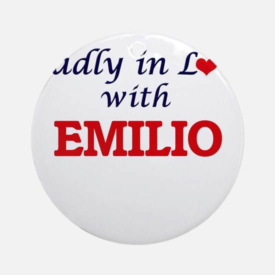 Madly in love with Emilio Round Ornament