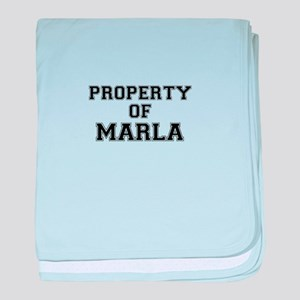 Property of MARLA baby blanket