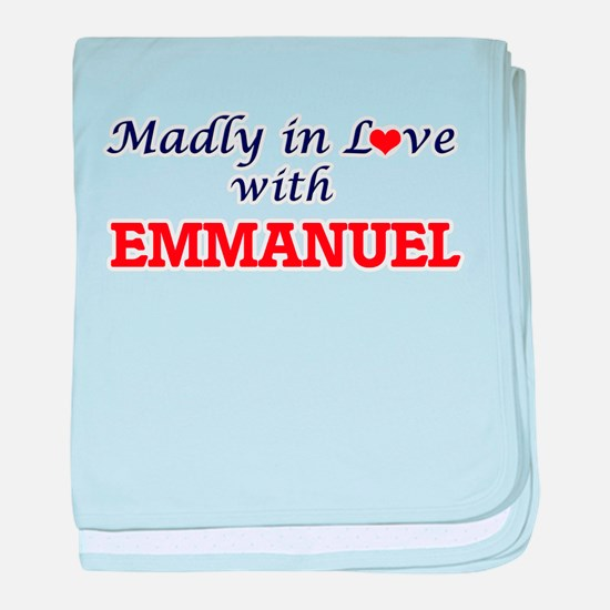 Madly in love with Emmanuel baby blanket