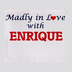 Madly in love with Enrique Throw Blanket