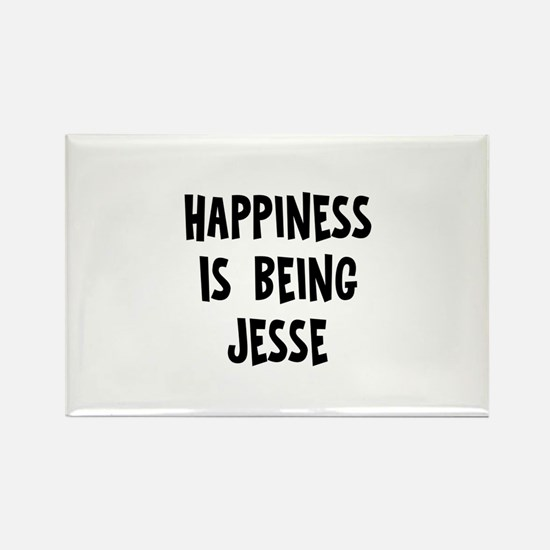 Happiness is being Jesse Rectangle Magnet