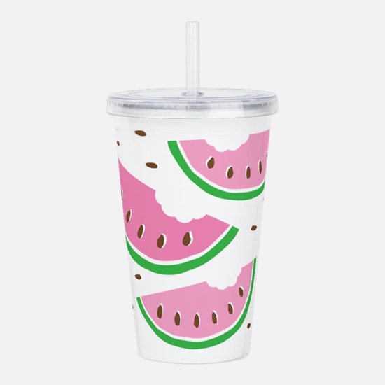 Watermelons Acrylic Double-wall Tumbler