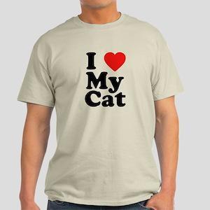 I Love My Cat Light T-Shirt
