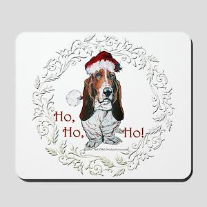 Basset Hound Christmas Mousepad