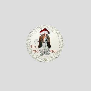 Basset Hound Christmas Mini Button