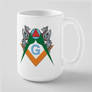 Masons 32nd Degree with Dragons Large Mug