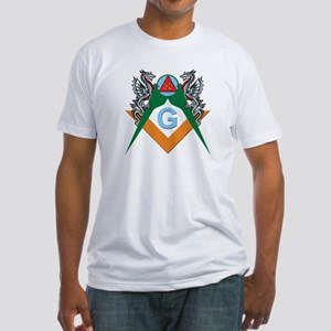 Masons 32nd Degree with Dragons Fitted T-Shirt