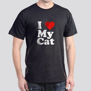I Love My Cat Dark T-Shirt