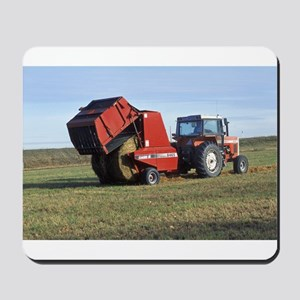 Tractor Making Hay Mousepad