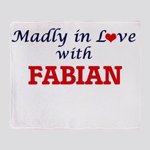 Madly in love with Fabian Throw Blanket