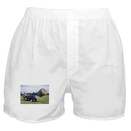 Tractor Hauling Hay Boxer Shorts