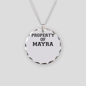 Property of MAYRA Necklace Circle Charm